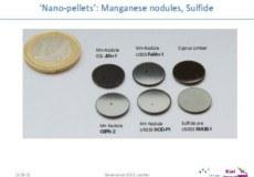 Nano-Pellets von Manganverbindungen und Sulfiden