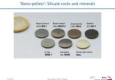 Nano-Pellets von silikatischen Gesteinen und Mineralen